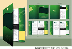 Brochure design template Royalty Free Stock Images