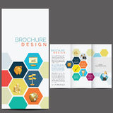 Brochure Design Template. With icons Royalty Free Illustration