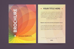 Brochure design template with abstract geometric Stock Photo