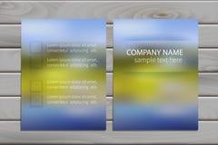 Brochure design template for business Stock Photos