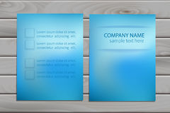 Brochure design template for business Stock Images