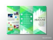 Brochure design template, business broadsheet concept, background. Brochure design template, business broadsheet concept, standard tri-fold A4 size, on grey Royalty Free Stock Photos
