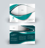 Brochure design template for business education advertisement. Trifold booklet royalty free illustration