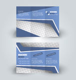 Brochure design template for business education advertisement. Trifold booklet stock illustration