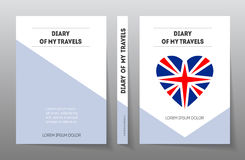 Brochure design template, . Cover for diary of travels in Royalty Free Stock Photo