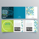 Brochure design, brochure template. Creative tri-fold, trend brochure royalty free illustration