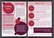 Brochure design template Stock Photos