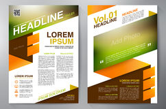 Brochure design a4 template Stock Image