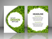 Brochure design template. Report, flyer, business layout, presentation template A4 size. Vector illustration Stock Photos