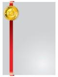 Brochure design template with seal. Brochure design template with golden seal Stock Images