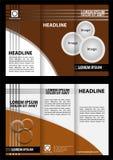 Brochure design template trifold Stock Photos
