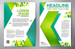 Brochure design a4 template Royalty Free Stock Photos