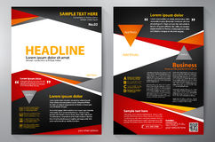 Brochure design a4 template Royalty Free Stock Images