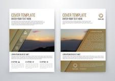 Brochure design template vector flyer Royalty Free Stock Photos