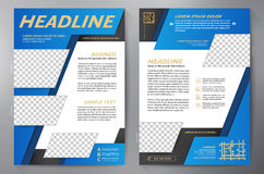Brochure design a4 template. Royalty Free Stock Photo