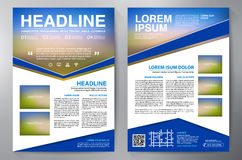 Brochure design a4 template. Stock Photo