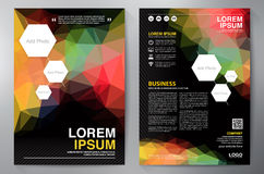 Brochure design a4 template. Royalty Free Stock Photos