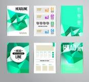Brochure design template Stock Image