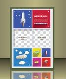 Brochure design Royalty Free Stock Photos