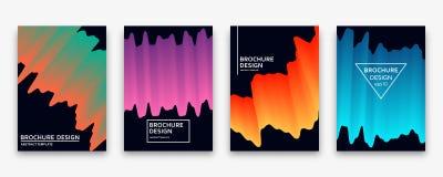 Brochure design with trendy neon gradients. Vector illustration. Royalty Free Stock Photo
