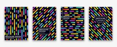 Brochure design with trendy neon gradients. Vector illustration. Brochure design with trendy neon gradients. Colorful vector illustration Stock Photo