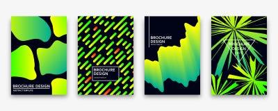 Brochure design with trendy neon gradients. Vector illustration. Royalty Free Stock Image