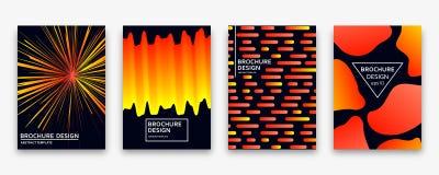 Brochure design with trendy neon gradients. Vector illustration. Brochure design with trendy neon gradients. Colorful vector illustration Stock Image