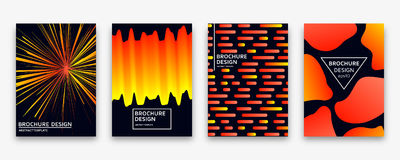 Brochure design with trendy neon gradients. Vector illustration. Stock Image