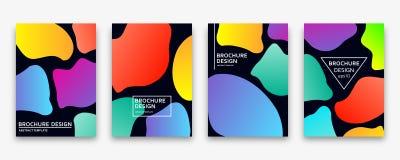 Brochure design with trendy neon gradients. Vector illustration. Brochure design with trendy neon gradients. Colorful vector illustration Stock Photography