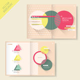 Brochure design with triangle and circle Royalty Free Stock Photography