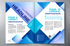 Brochure design two pages a4 template Royalty Free Stock Images