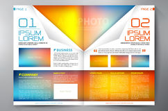Brochure design two pages a4 template Royalty Free Stock Photography
