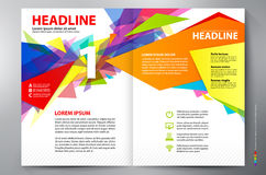 Brochure design two pages a4 vector template Stock Photography