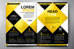 Brochure design two pages a4 vector template Royalty Free Stock Photo