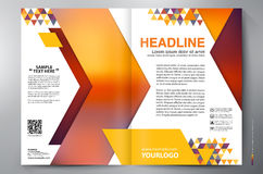 Brochure design two pages a4 vector template Royalty Free Stock Image