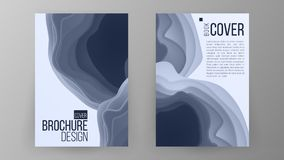 Brochure Design Vector. Magazine Poster. Annual Report Cover. Ilustration Royalty Free Stock Photos