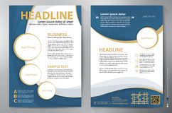 Brochure design a4 vector template Stock Image