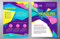 Brochure design a4 vector template. Brochure design a4 template. Vector illustration Stock Photos