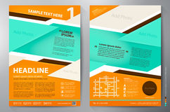Brochure design a4 vector template. Stock Photo