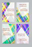 Brochure design vector template set. Stock Images