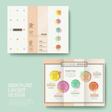 Brochure design with watercolor style Stock Photos