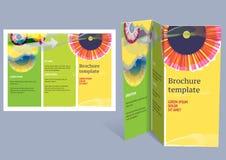Brochure, disposition de z-pli de livret. Conception Editable t Photo libre de droits