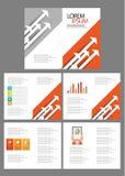 Brochure double d'affaires Photographie stock