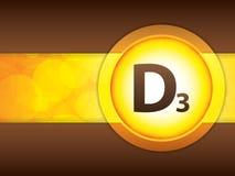 Brochure en papier glacé de la vitamine D3 Photo libre de droits