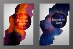 Brochure en vlieger veelhoekige dekkingsreeks Stock Fotografie