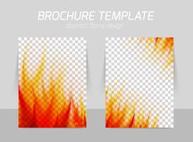 Brochure with flame Royalty Free Stock Photos