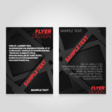 Brochure flier design template. Vector concert poster illustration.  Royalty Free Stock Photo