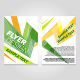 Brochure flier design template. Vector concert poster illustration. royalty free illustration