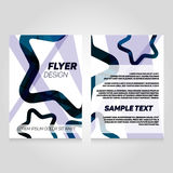 Brochure flier design template. Vector concert poster illustration. Royalty Free Stock Image