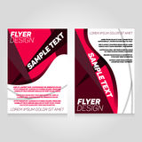 Brochure flier design template. Vector concert poster illustration. Leaflet cover layout in A4 size Stock Photo